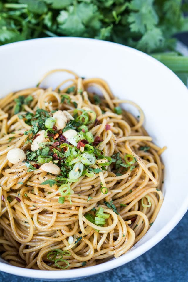 Kung Pao Pasta AKA the best pasta EVER! If you like spicy, this Kung Pao Pasta is for you! |Krollskorner.com