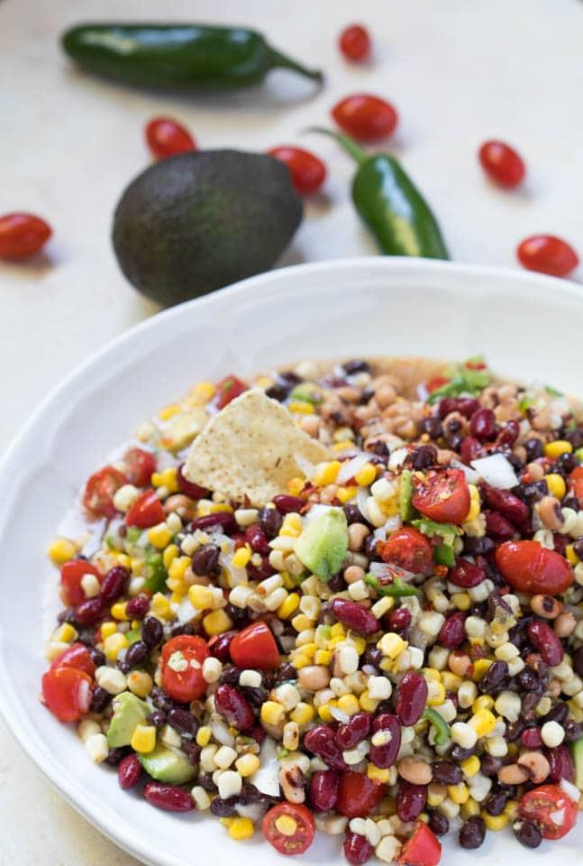Vegetarian Bean Dip - easy and tasty! krollskorner.com
