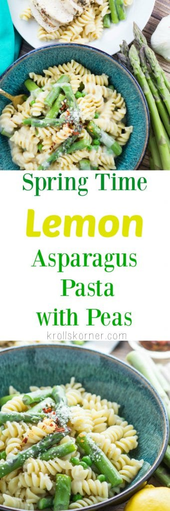 Spring Time Pasta with Asparagus and Peas! |KrollsKorner.com