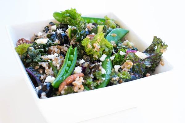 Kale and Blueberry Spring Salad - SO fresh and satisfying! Krollskorner.com