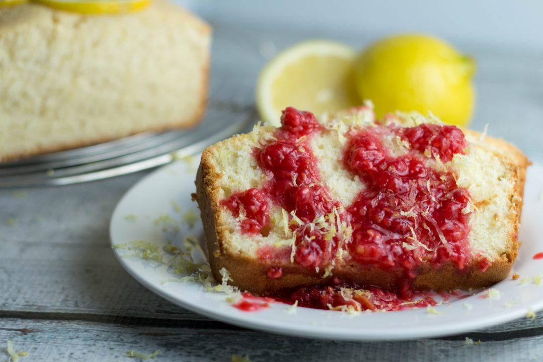Lemon Pound Cake with Raspberry Compote...so good for a summer dessert!  Krollskorner.com