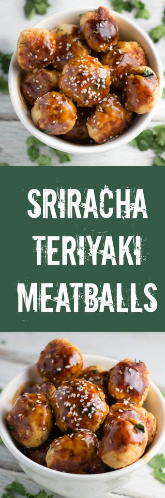 Sriracha Teriyaki Ground Turkey Meatballs...such an easy & delicious recipe!! krollskorner.com