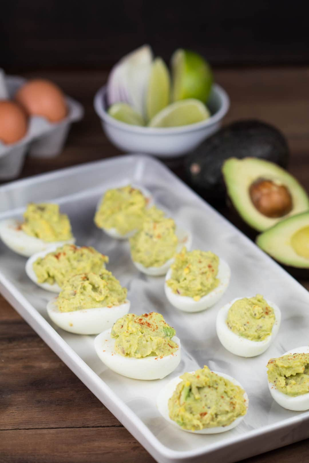 Crack into these Avocado Deviled Eggs, you won't regret it! | Krollskorner.com