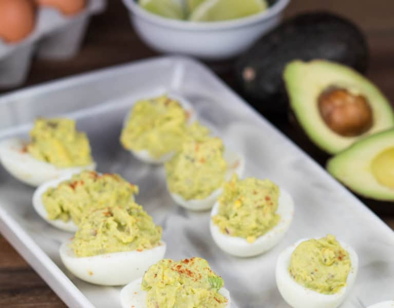 Crack into these Avocado Deviled Eggs, you won't regret it! | Krollskorner.com