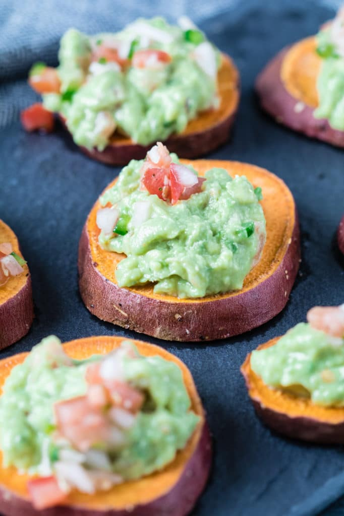 Sweet Potatoes with Guacamole - easy, healthy AND tasty, what more could you ask for!? krollskorner.com