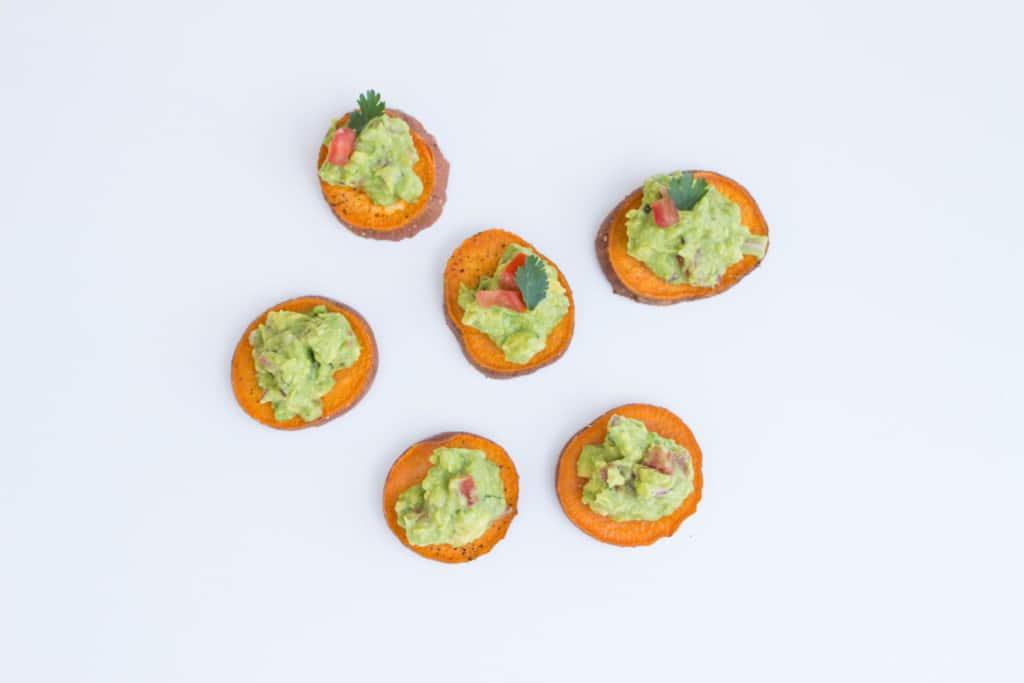 Sweet Potato Sliders with Homemade Guacamole! https://krollskorner.com/recipes/sweet-potato-sliders-with-homemade-guacamole/