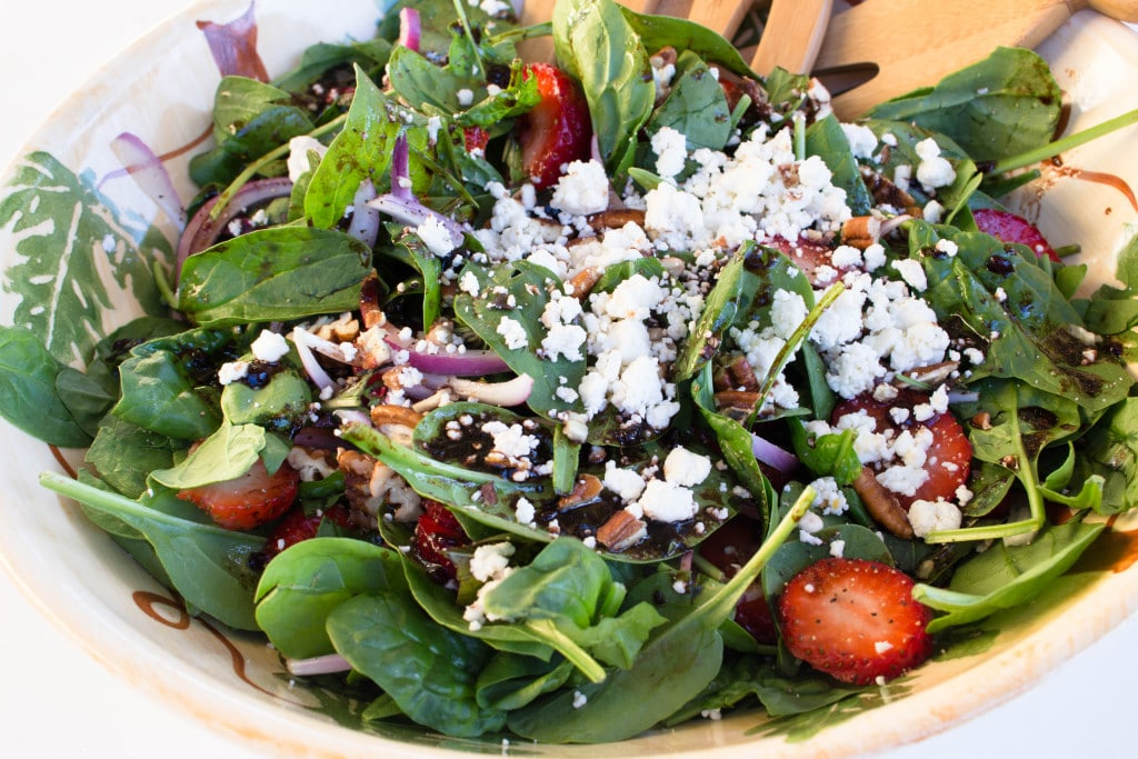 Spinach, Basil, and Strawberry Summer Salad. Krollskorner.com