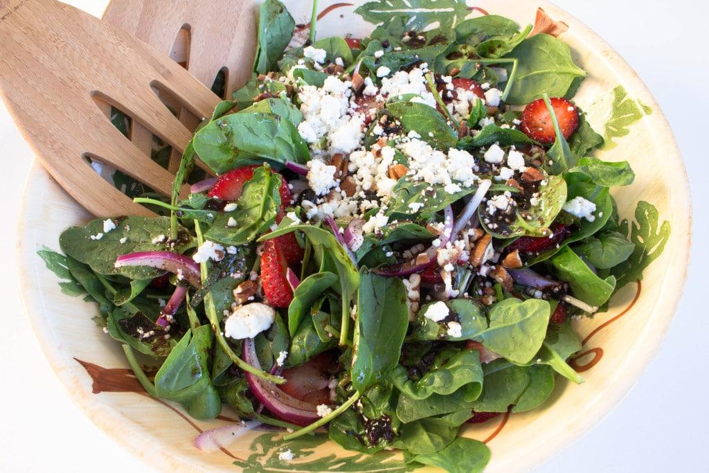 Spinach, Basil, and Strawberry Summer Salad. Krollskorner.com