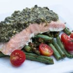 2 Ingredient Pesto Salmon - Krollskorner.com