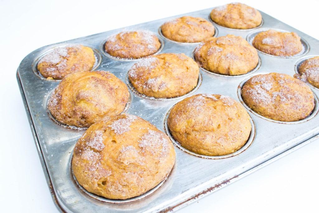 Pumpkin & Spice Muffins w/ siggi's Yogurt - DELISH!! Krollskorner.com