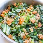 Sweet Potato Stir Fry - try something different this week and make this nutrient packed recipe! Krollskorner.com
