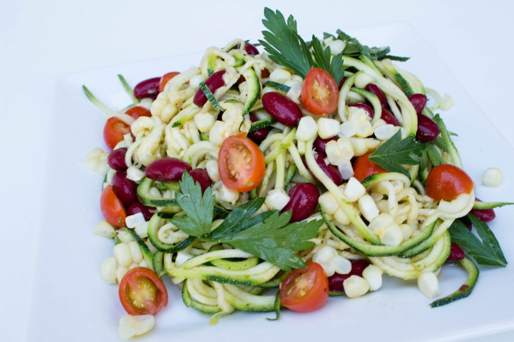 Zucchini & Corn Salad w/ Honey Lime Vinaigrette - Krollskorner.com