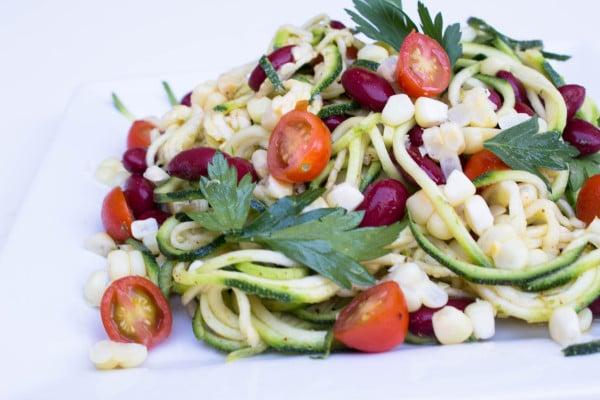Zucchini & Corn Salad w/ Honey Lime Vinaigrette - Krollskorner.com