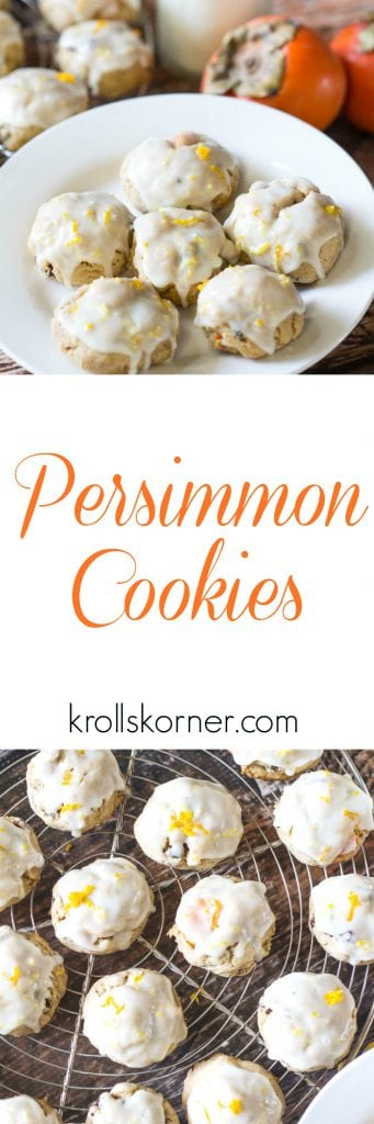 persimmon cookies on a white plate
