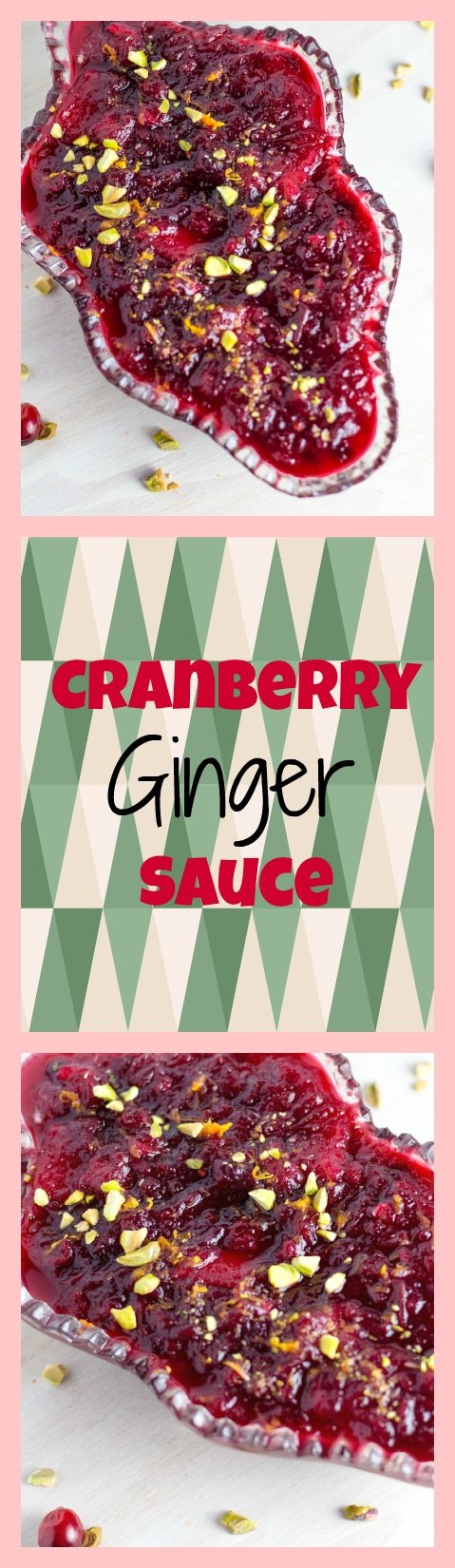Cranberry Ginger Sauce - SO DELISH! Krollskorner.com