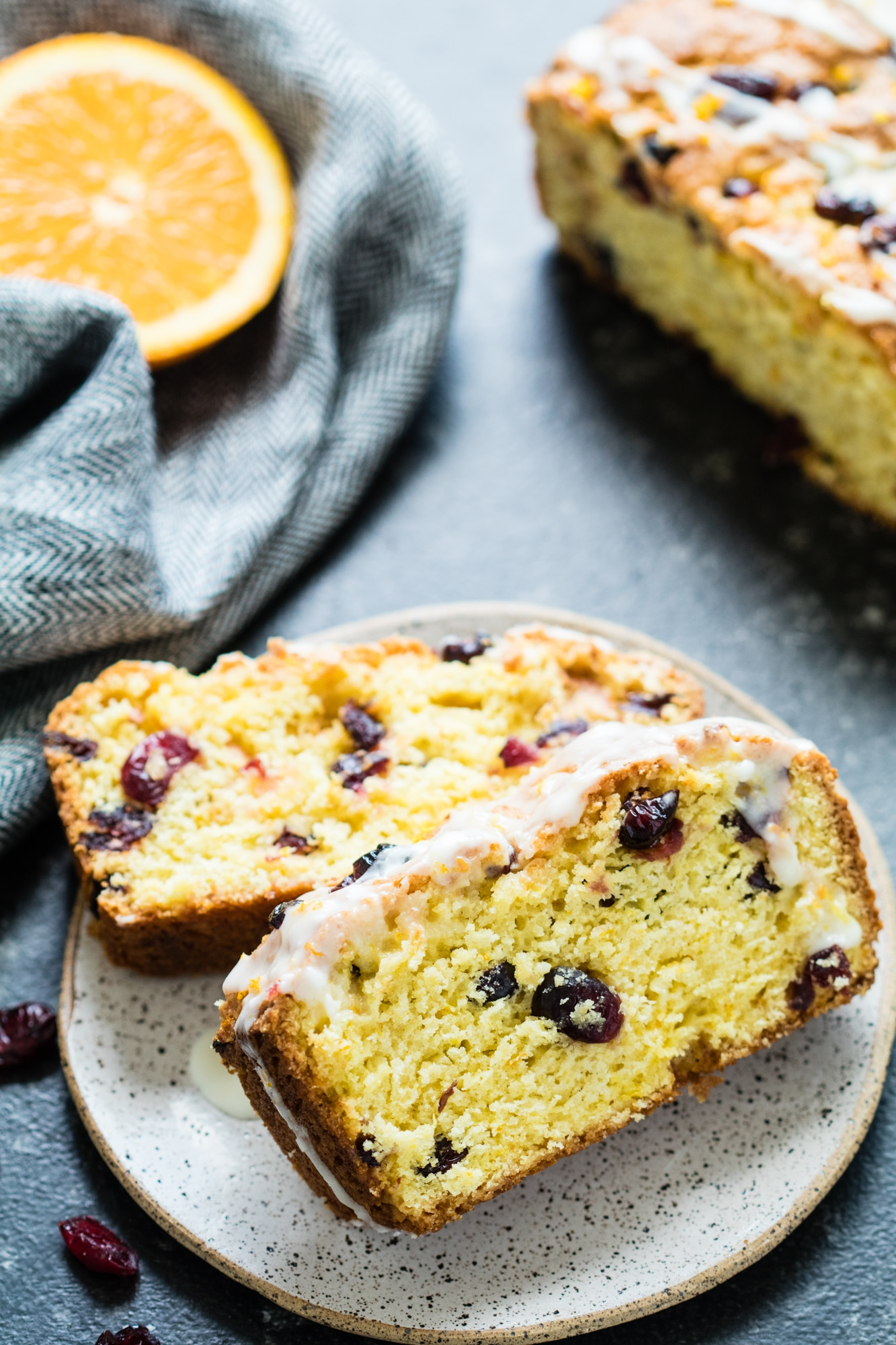 This Cranberry Orange Bread is everything you'd expect...and then some. You'll taste the fresh flavor of orange and the sweetness of dried cranberries in every bite! krollskorner.com