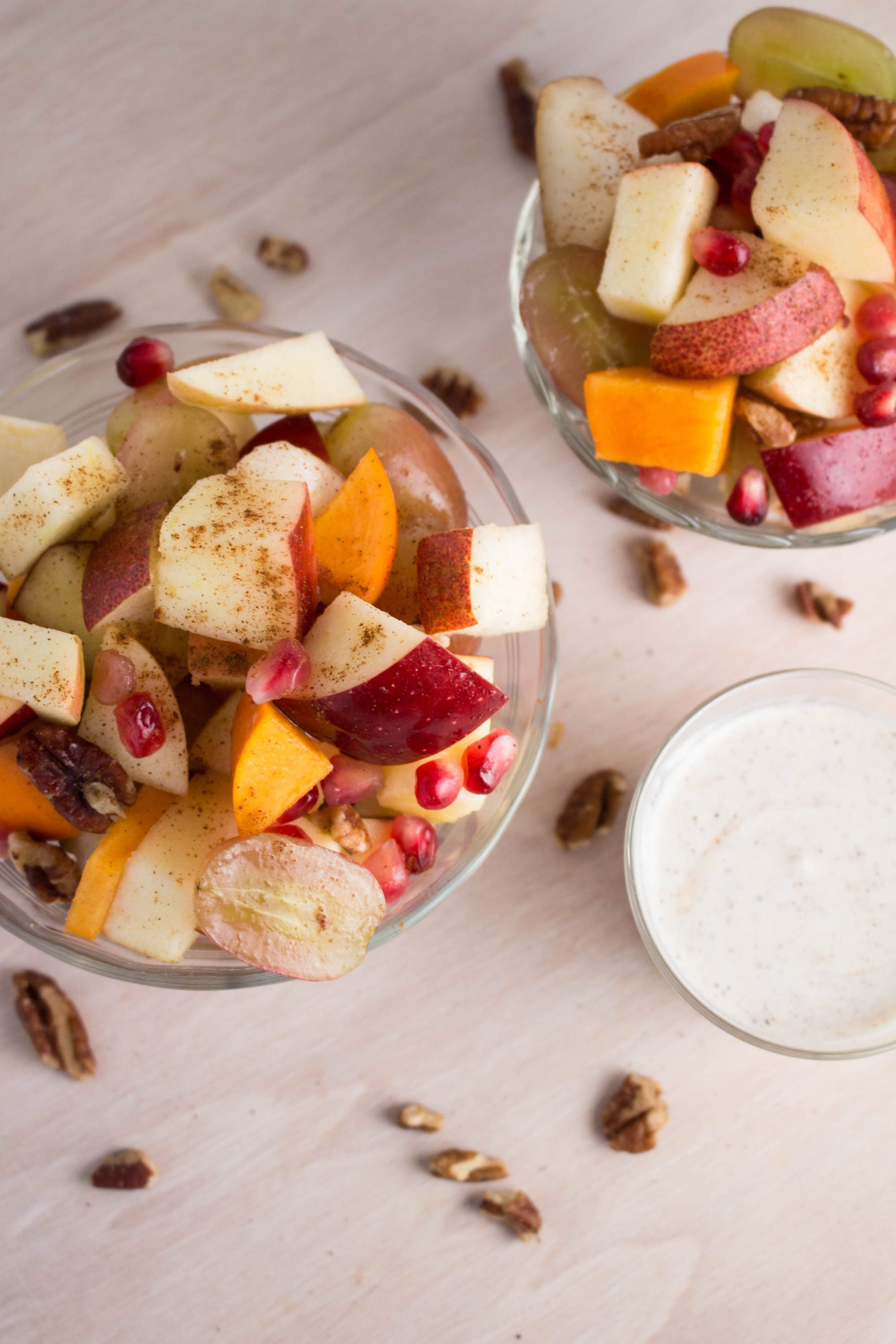 Fruit Salad with Greek Yogurt Dressing - super simple and flavorful! Krollskorner.com