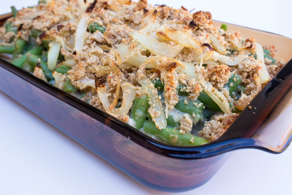 Clean Green Bean Casserole - Perfect way to save a few calories and SODIUM during Thanksgiving!