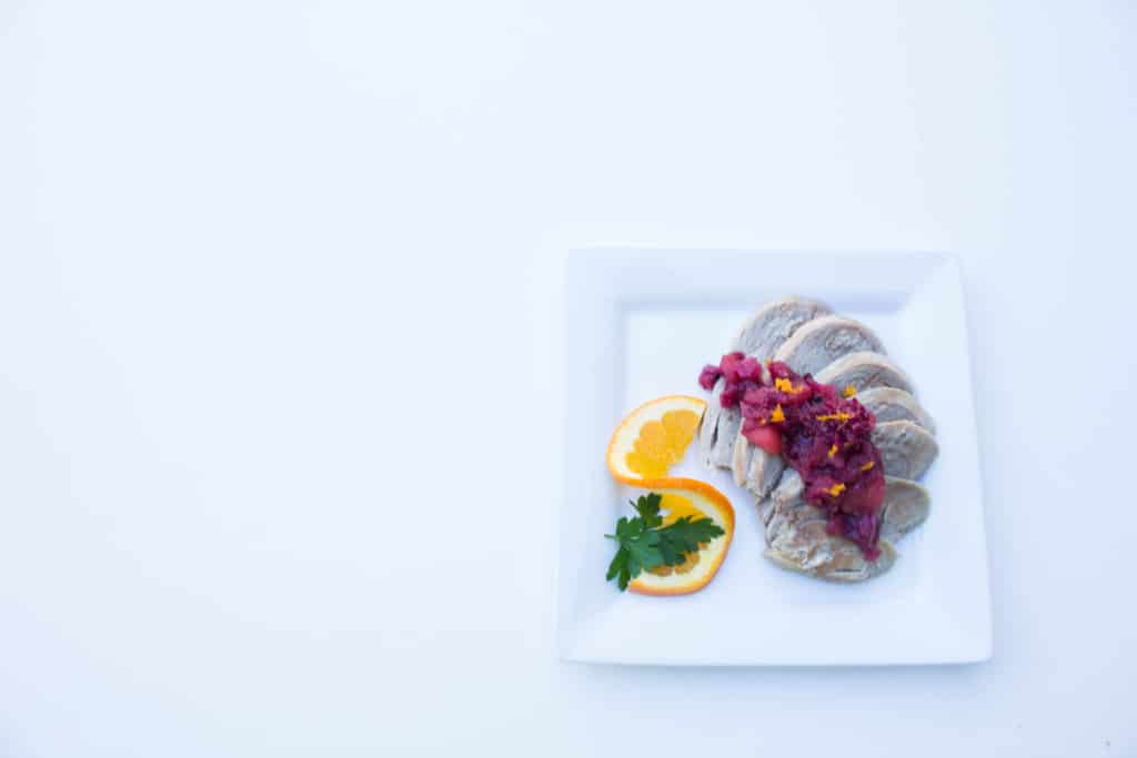 Crockpot Pork Tenderloin w/ Blackberry-Apple Chutney - Delicious recipe by Krollskorner.com