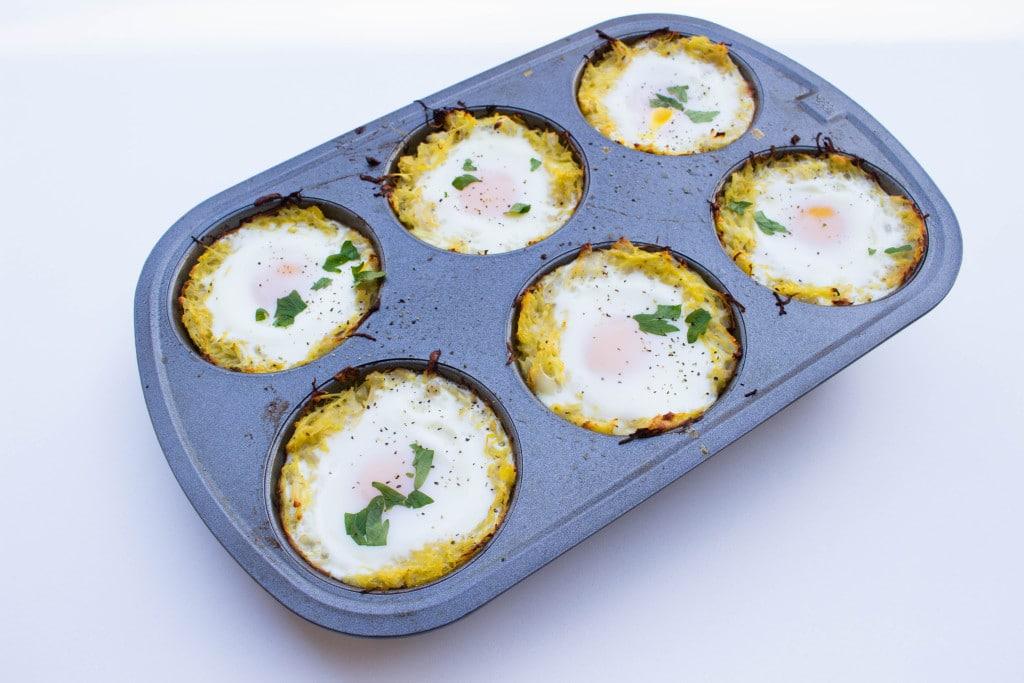 Spaghetti Squash Egg Nests - Krollskorner.com