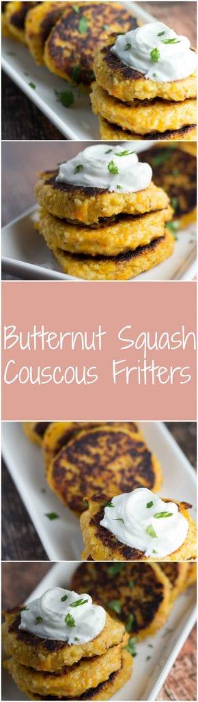 Butternut Squash Couscous Fritters | Krollskorner.com