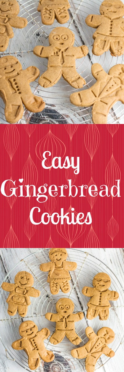 Easy Gingerbread Cookies! Krollskorner.com
