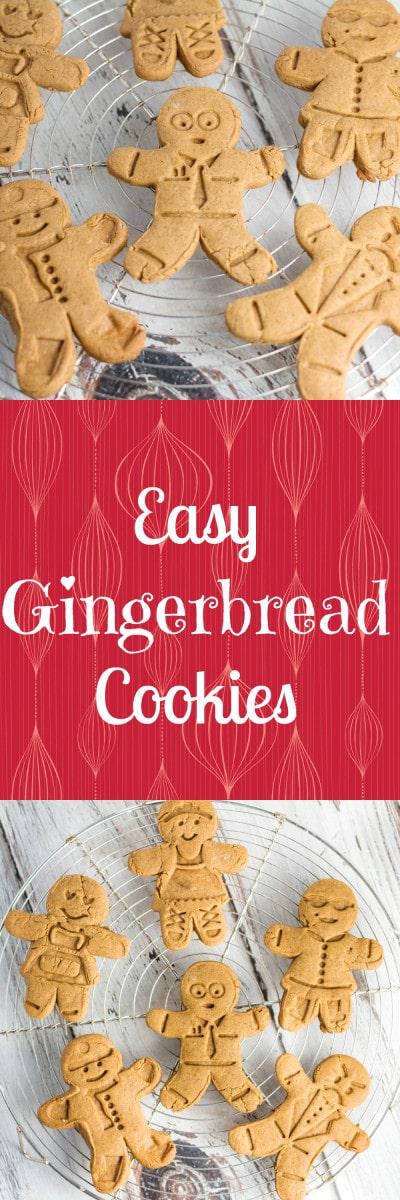 Easy Gingerbread Cookies! Krollskorner.com