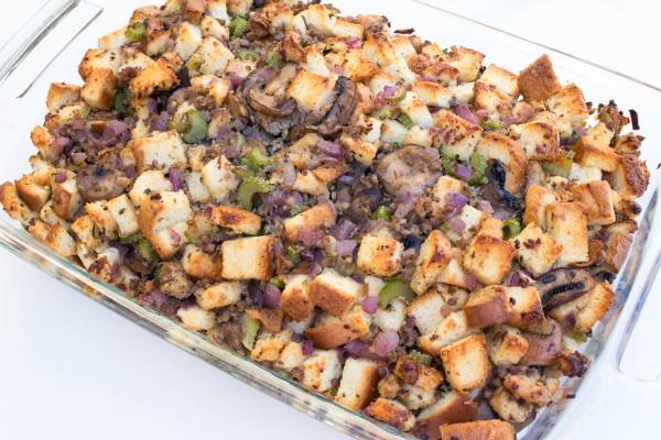 Mushroom Sausage Stuffing | Krollskorner.com