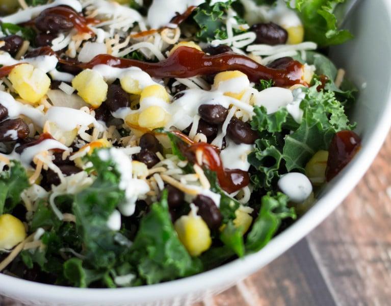 Chopped BBQ Kale Salad | Krollskorner.com