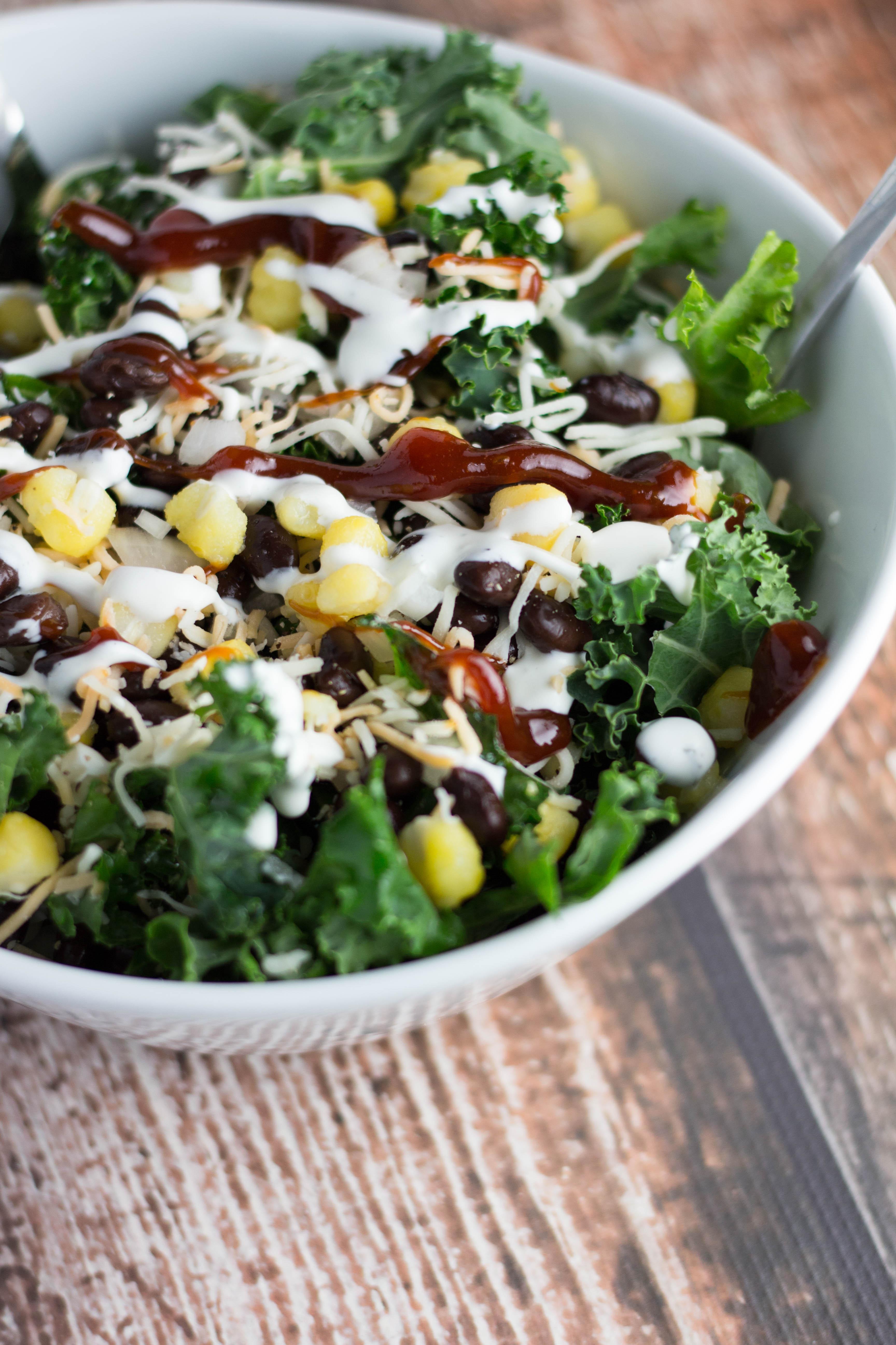 Chopped BBQ Kale Salad   Krollskorner.com