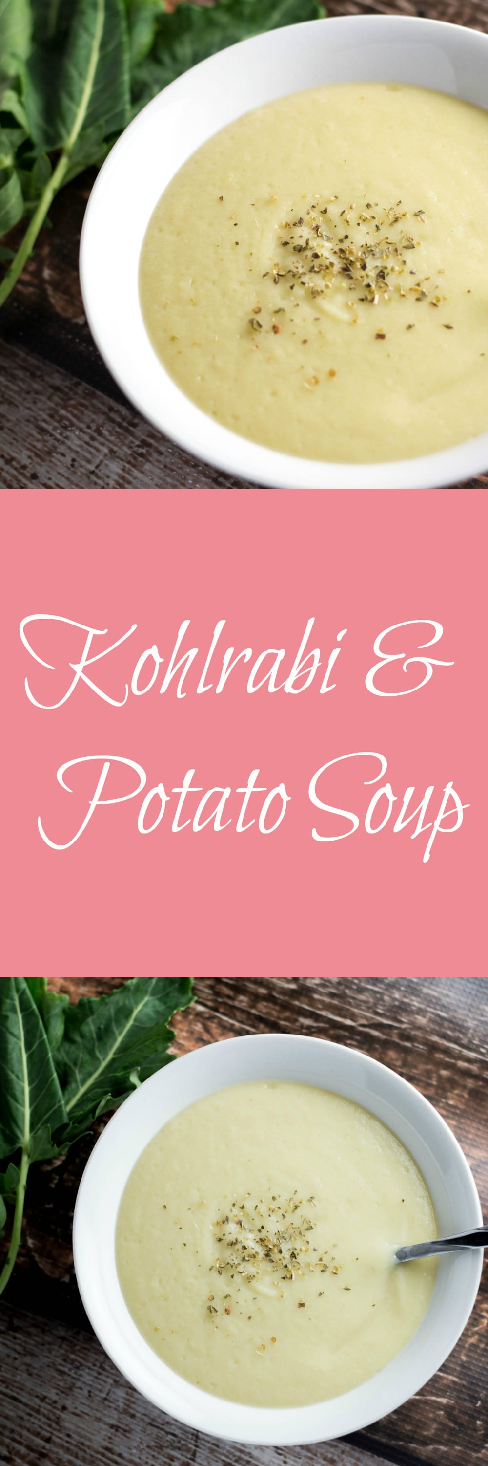 Kohlrabi and Potato Soup! Perfect for the winter and fighting off colds! |Krollskorner.com