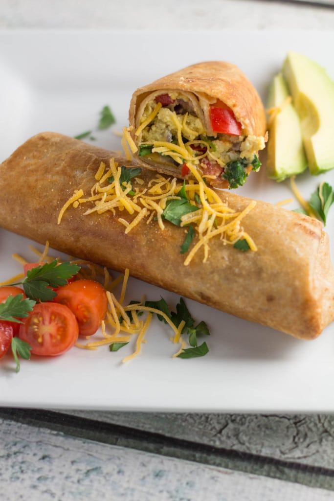 Veggie-Filled Breakfast Crunch Wrap Burrito | Krollskorner.com