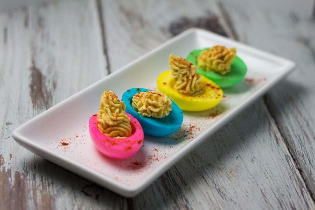 kid friendly easter deviled eggs