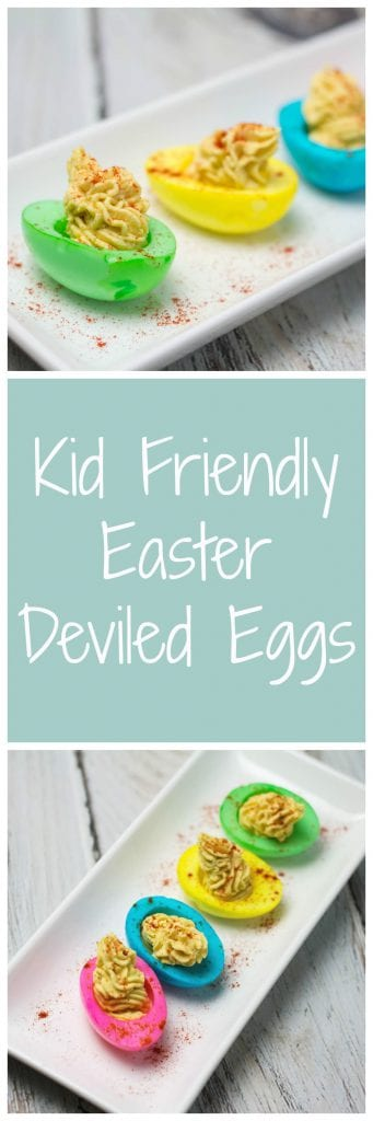 Kid Friendly Easter Deviled Eggs - Such a fun way to get the kids involved in the kitchen! | Krollskorner.com