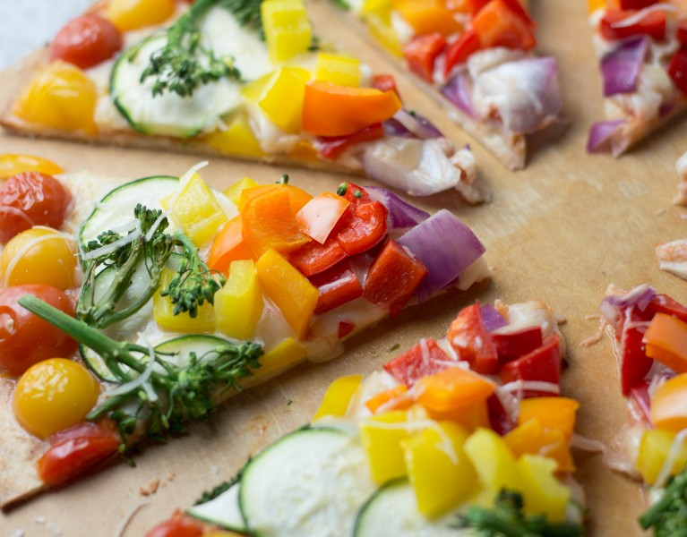 Savor the Flavor of Eating Right with this rainbow pizza! #NNM2016
