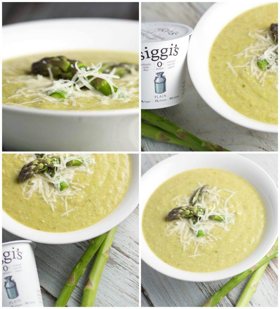 Creamy Vegetarian Asparagus Soup w/ siggi's Yogurt! |Krollskorner.com