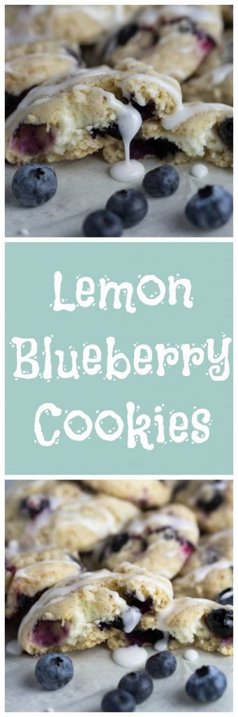 Lemon Blueberry Cookies! | Krollskorner.com