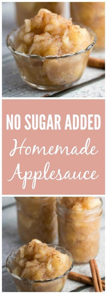 NO SUGAR ADDED Homemade Applesauce recipe...find out what my secret ingredient is! Krollskorner.com