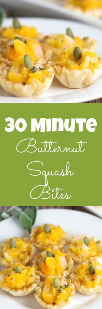 30 Minute Butternut Squash Bites! #TheRecipeRedux