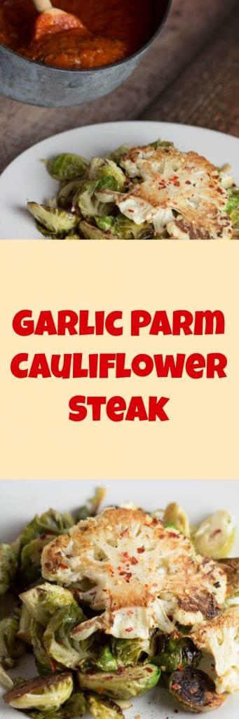 Garlic Parm Cauliflower Steak  Krollskorner.com