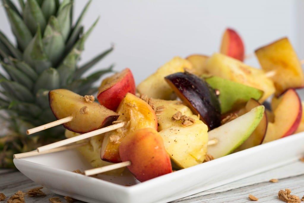 Grilled Fruit - 4 Ways! Grilled Fruit Kebabs | Krollskorner.com