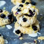 Lemon Blueberry Cookies baked to perfection with a ooey-gooey cream cheese filled center #krollskorner krollskorner.com