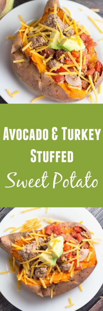 Avocado and Turkey Stuffed Sweet Potato - heart healthy meal that takes less than an hour to make! |Krollskorner,com