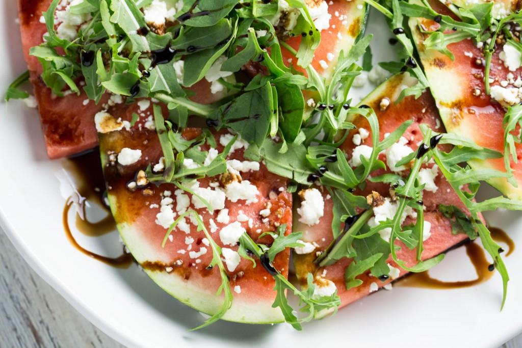 Grilled Fruit - 4 Ways! Watermelon Salad Bites | Krollskorner.com