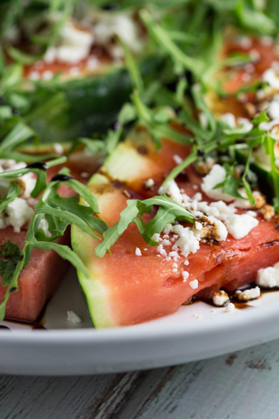 Grilled Fruit - 4 Ways! Watermelon Salad Bites  Krollskorner.com