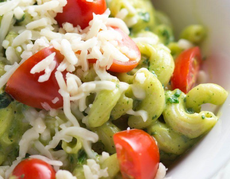 Zucchini and Avocado Mac & Cheese |Krollskorner.com
