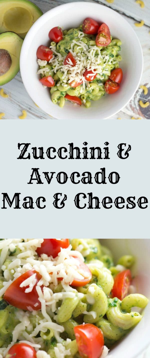 Zucchini and Avocado Mac & Cheese |Krollskorner.com