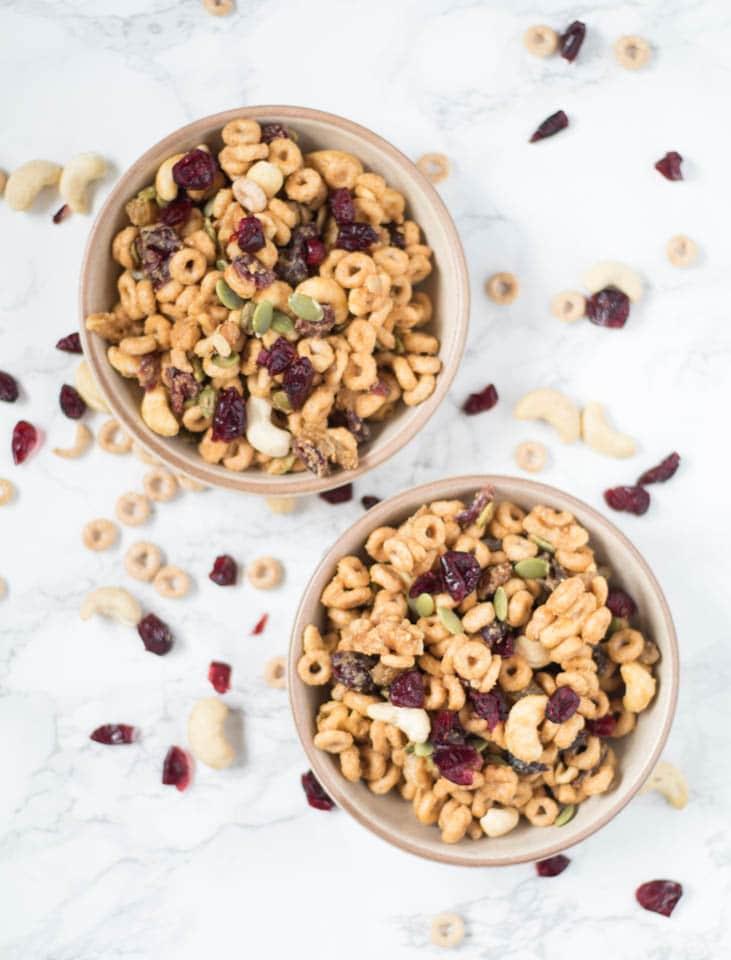 High Protein Cheerio Trail Mix - Gluten Free   Krollskorner.com
