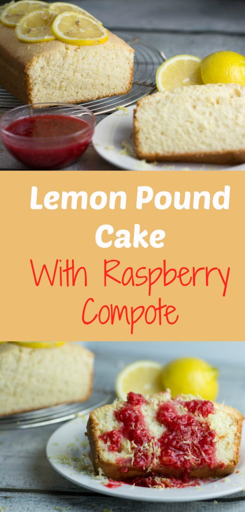 Lemon Pound Cake with Raspberry Compote...so good for a summer dessert! |Krollskorner.com