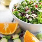Kale and Brussels Sprouts Salad with CA Almonds! + GIVEAWAY!|Krollskorner.com